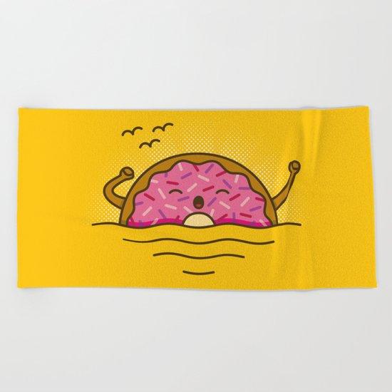 Good morning! - Cute Doodles Beach Towel