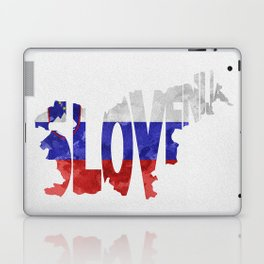 Slovenija / Slovenia Typographic Flag / Map Art Laptop & iPad Skin
