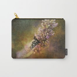Butterfly on lavender Carry-All Pouch