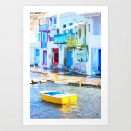 232. Colorful Klima, Greece Art Print