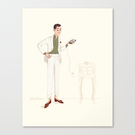 Charging for Pitti Canvas Print