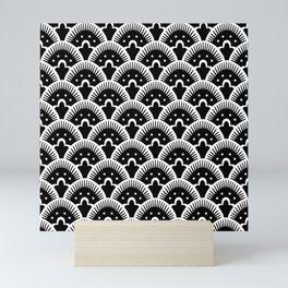 Fan Pattern Black & White 201 Mini Art Print