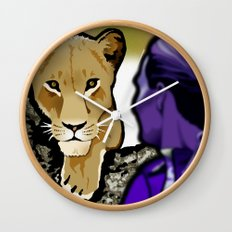 The Lesbian & the Lioness Wall Clock