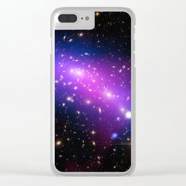 Colliding Galaxies Clear iPhone Case
