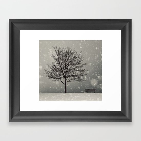 January Snow Framed Art Print