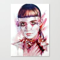 grimes Canvas Prints featuring grimes by beart24