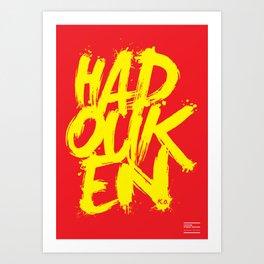 Hadouken Art Print