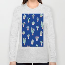 Little cactus pattern - Princess Blue Long Sleeve T-shirt