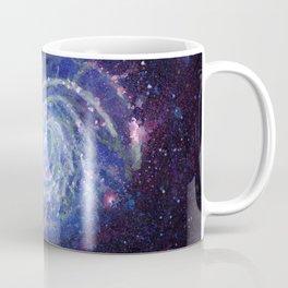 Pinwheel Galaxy Gouache Watercolor Painting Coffee Mug