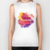 feminism Biker Tanks featuring Feminism Watercolor by Pia Spieler
