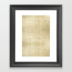gOld stripes Framed Art Print