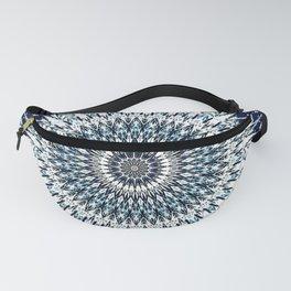 Indigo Navy White Mandala Design Fanny Pack
