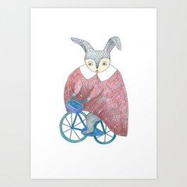 Séverin, le Lapin Art Print