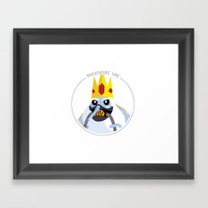 Cold King Hot Desert Framed Art Print