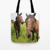 horses Tote Bags featuring horses by Falko Follert Art-FF77