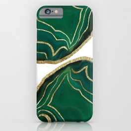 Emerald Agate Gold Glam #1 #gem #decor #art #society6 iPhone Case