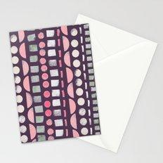 Sponge Print Stationery Cards