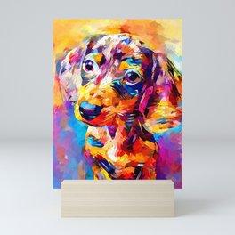 Mini Dachshund Mini Art Print