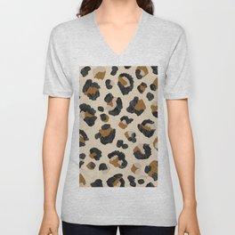 Leopard Print – Neutral Gold Light Palette Unisex V-Neck