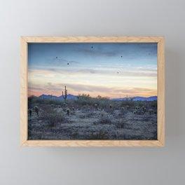 Hot Air Balloons Outside Phoenix at Sunset Framed Mini Art Print