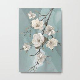 Magnolia Blossom Branch Metal Print