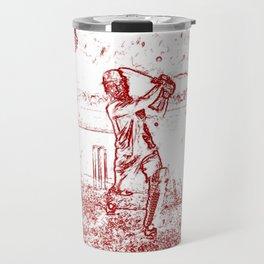 Cricket Batsman Smack Travel Mug