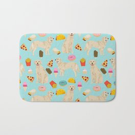 Golden Retriever donuts french fries ice cream pizzas funny dog gifts dog breeds Bath Mat