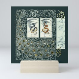 Snake Eyes :: Fine Art Collage Mini Art Print