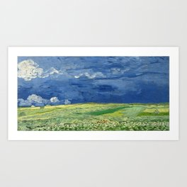 Vincent van Gogh - Wheatfield Under Thunderclouds Art Print