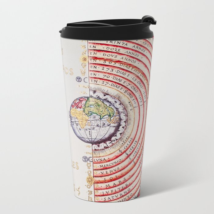 Vivid Ancient Map Travel Mug