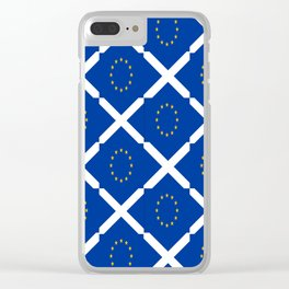 Mix of flag: UE and scotland Clear iPhone Case