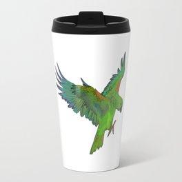 Green Parrot Travel Mug