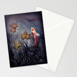 The carp's journey 4 Stationery Cards