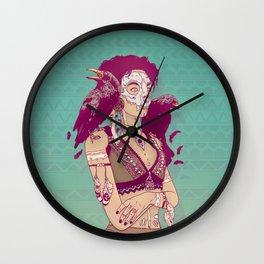 Raven Lady Wall Clock