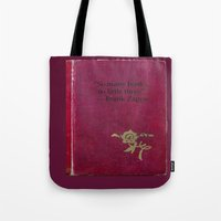 "zappa Tote Bags featuring ""So many books, so little time.""  ― Frank Zappa by Dora Birgis"