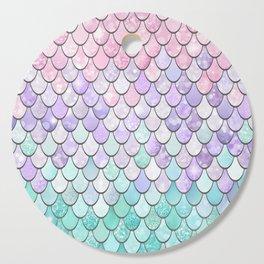 Cute Pretty Fun Girly Pattern, Ombre Pastel Pink, Purple, Teal Cutting Board