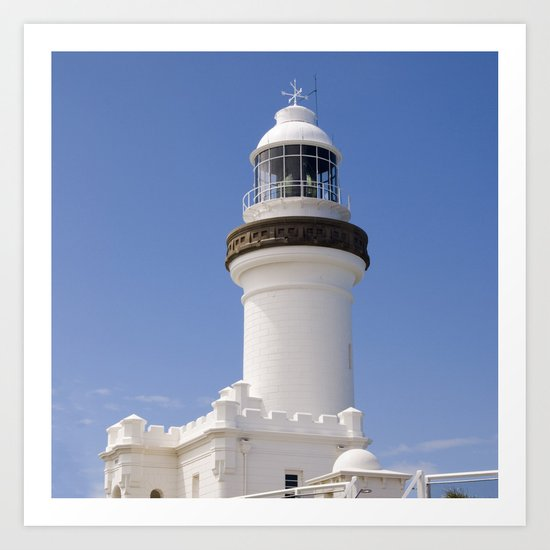 Byron Bay Lighthouse blue Sky Art Print