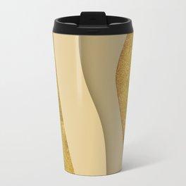 Gold Ribbons Travel Mug
