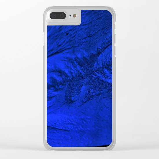Blue frost Clear iPhone Case