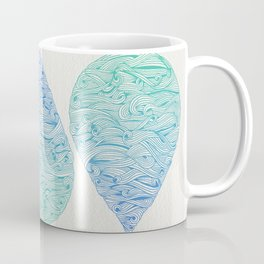Water Drop – Blue Ombré Coffee Mug