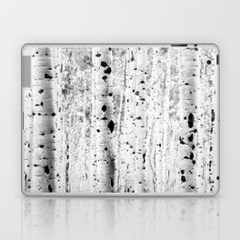 Black and White Aspens Laptop & iPad Skin