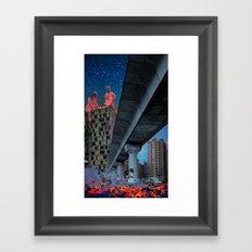 the built environment Framed Art Print