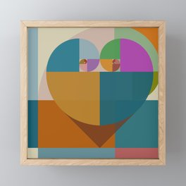 Fibonacci Heart II Framed Mini Art Print
