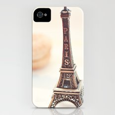 Macaron and Mini Eiffel Tower iPhone (4, 4s) Slim Case