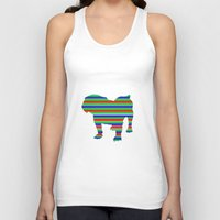 stripe Tank Tops featuring Bulldog Stripe by Whimsy Notions Designs