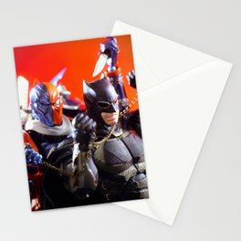 Bat man and Death stroke Stationery Cards