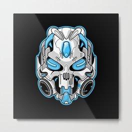 Cyberskull Metal Print