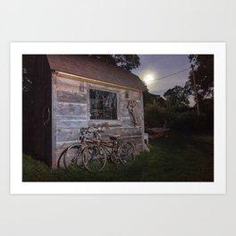 Moonlight Ride Art Print