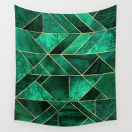 Abstract Nature - Emerald Green Wall Tapestry