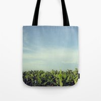 colombia Tote Bags featuring Zona Bananera - Colombia by Josefina Bolano